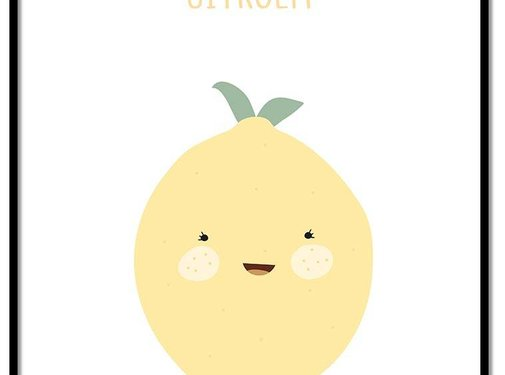 Lievespulletjes Poster babykamer citroen - met tekst