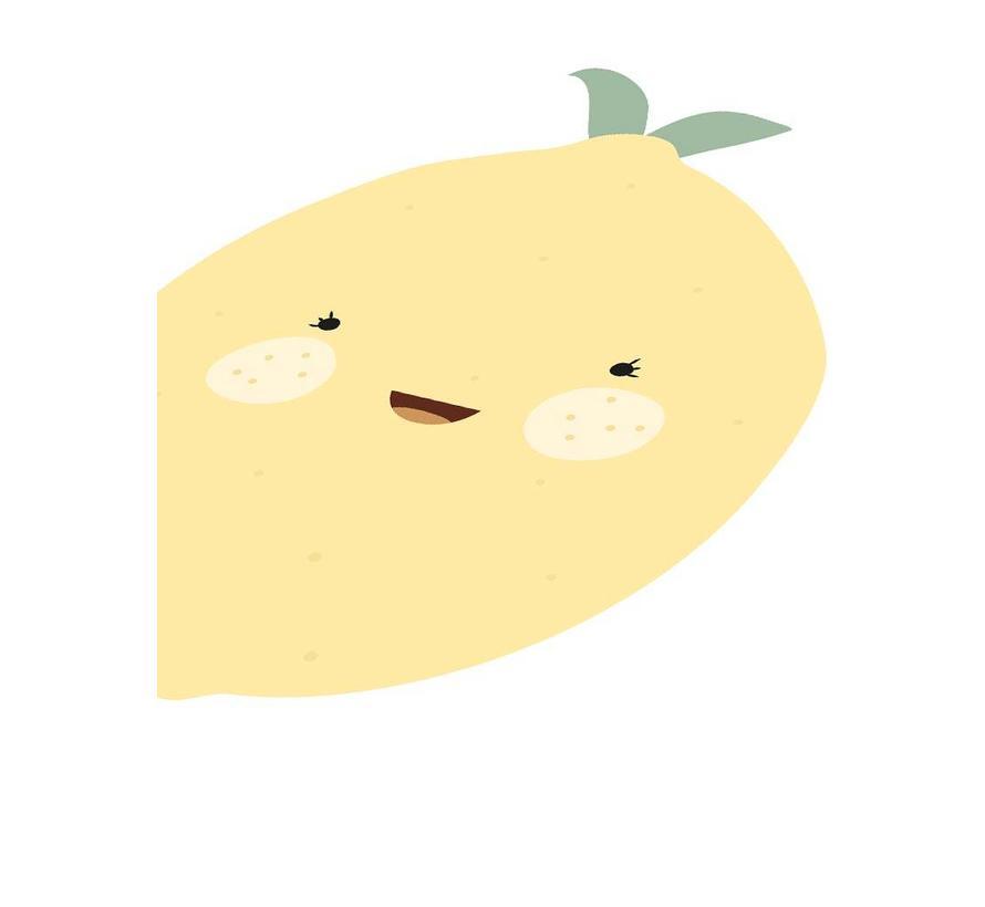 Poster babykamer citroen - met tekst