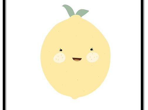Lievespulletjes Poster babykamer citroen