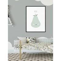 thumb-Poster babykamer peer - met tekst-2