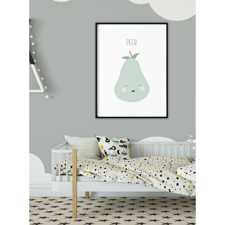 Poster babykamer peer - met tekst-2