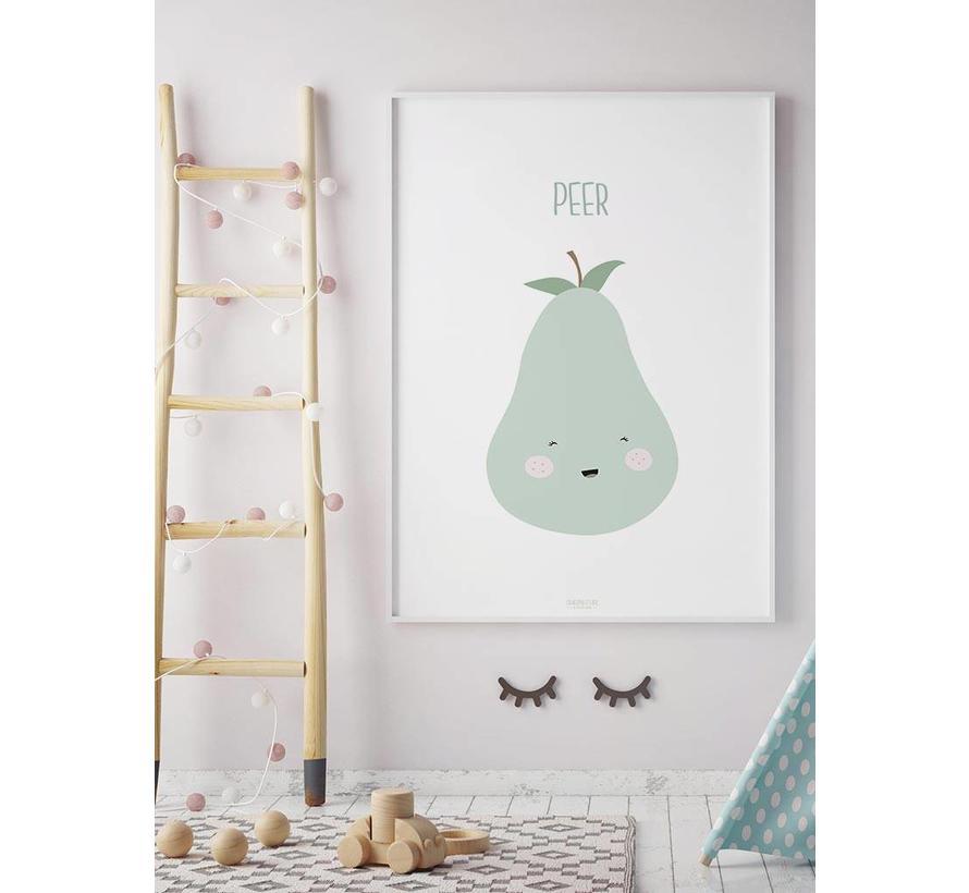Poster babykamer peer - met tekst