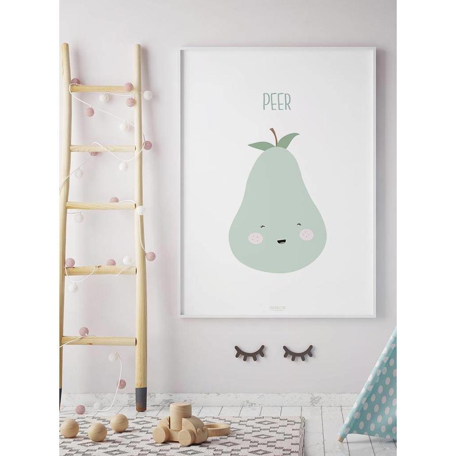 Poster babykamer peer - met tekst-6