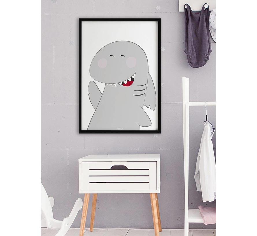 Poster kinderkamer haai