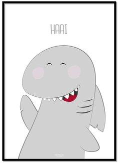 Lievespulletjes Poster haai met tekst