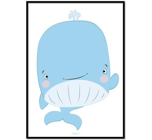 Lievespulletjes Poster kinderkamer walvis