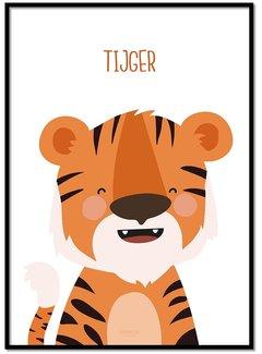 Lievespulletjes Poster tijger met tekst