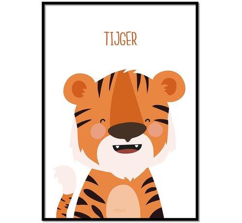 Lievespulletjes Poster kinderkamer tijger met tekst