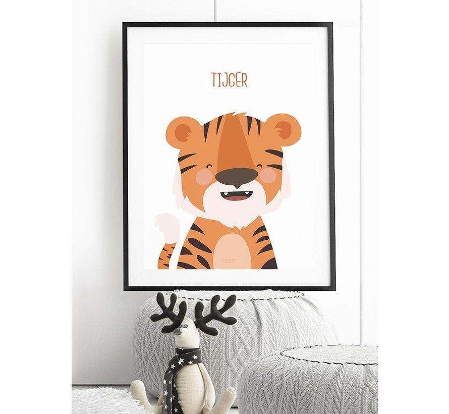 Poster kinderkamer tijger met tekst