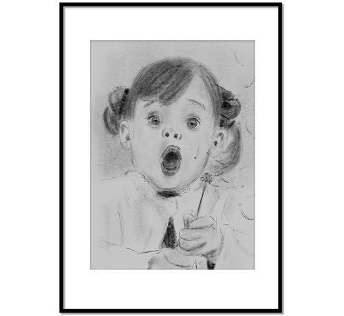 Lievespulletjes Portret tekening op maat