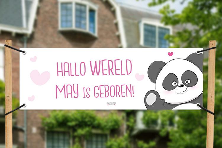 geboortespandoek met lieve panda