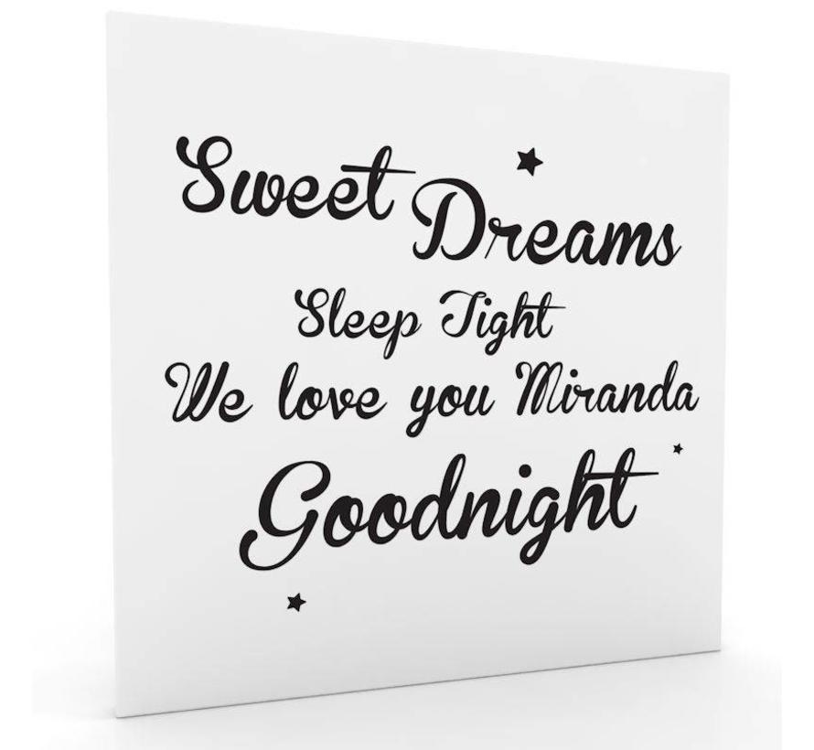 muurdecoratie: Sweet Dreams z/w