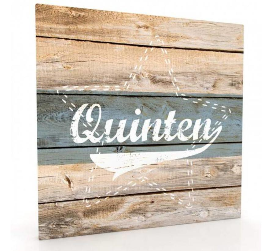 Muurdecoratie hout-look - Striped Star