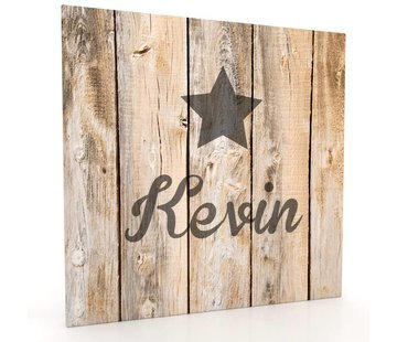 Muurdecoratie hout-look - Solid Star