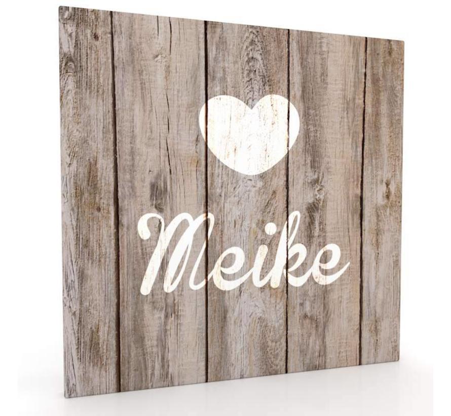 Muurdecoratie hout-look - Lief Hartje