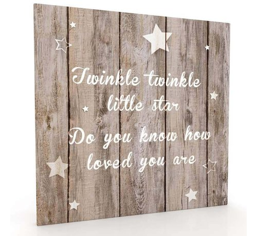 Muurdecoratie Van Hout.Canvas Muurdecoratie Hout Look Twinkle Twinkle Little Star