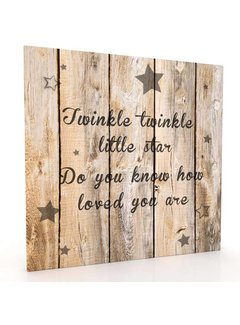 Muurdecoratie hout-look - Twinkle Little Star
