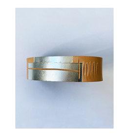 armband graphi-zilverkleurige print #1