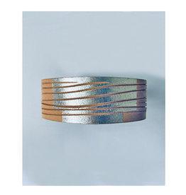 Tesj armband graphi-zilverkleurige print #2
