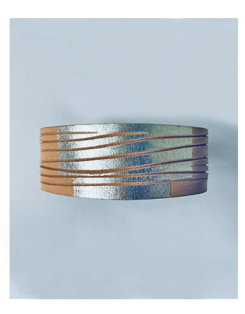 Tesj armband graphi-zilveren print #2