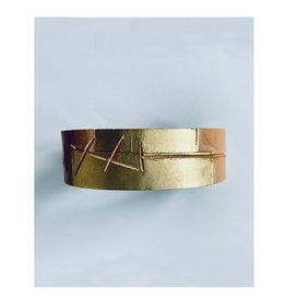 Tesj armband graphi-goudkleurige print #4