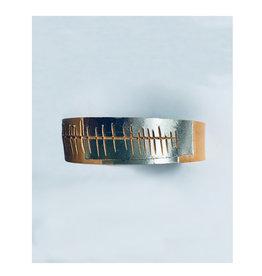 Tesj armband graphi-zilverkleurige print #5