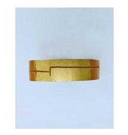 Tesj armband graphi-goudkleurige print #6
