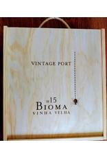 Niepoort Port Wooden box of 3 bottles Vintage Port Bioma VV 2015