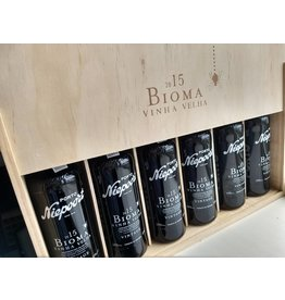 Niepoort Port Wooden box of 6 x 375 ml Vintage Port Bioma VV 2015
