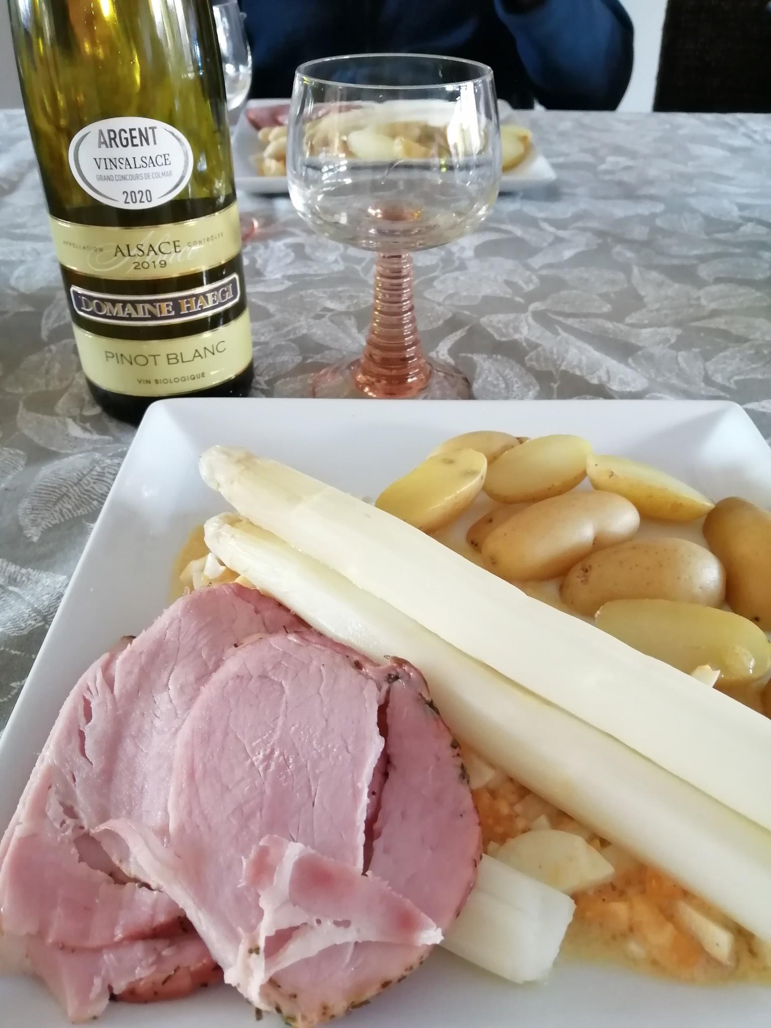 wijn bij asperges zalm