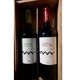 Wijnkist Vinha do Mouro wit/rood