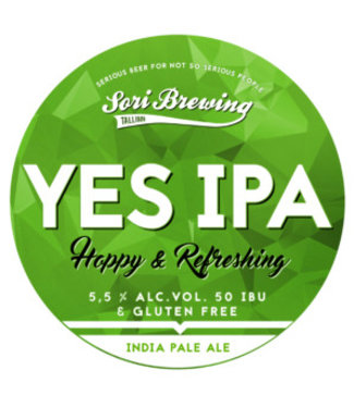 Sori Brewing Yes IPA! - Gluten vrij -