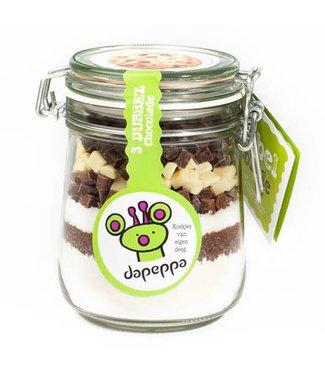 Dapeppa Koekjespot 3 chocolades