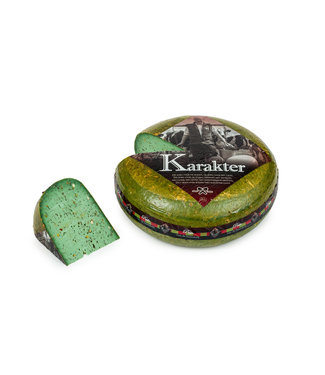 Pesto-pijnboompit kaas van de boerderij