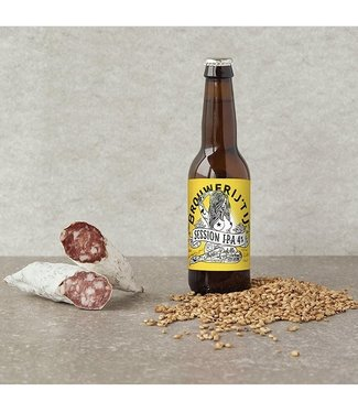 Brandt & Levie Dried sausage with 't  IJ Session IPA flavour