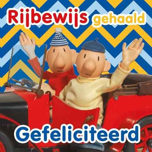 Wenskaart Buurman & Buurman Rijbewijs gehaald Gefeliciteerd