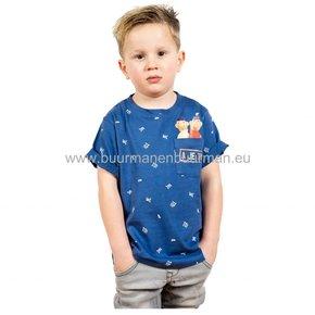 Buurman & Buurman T-shirt Kids Blauw AOP