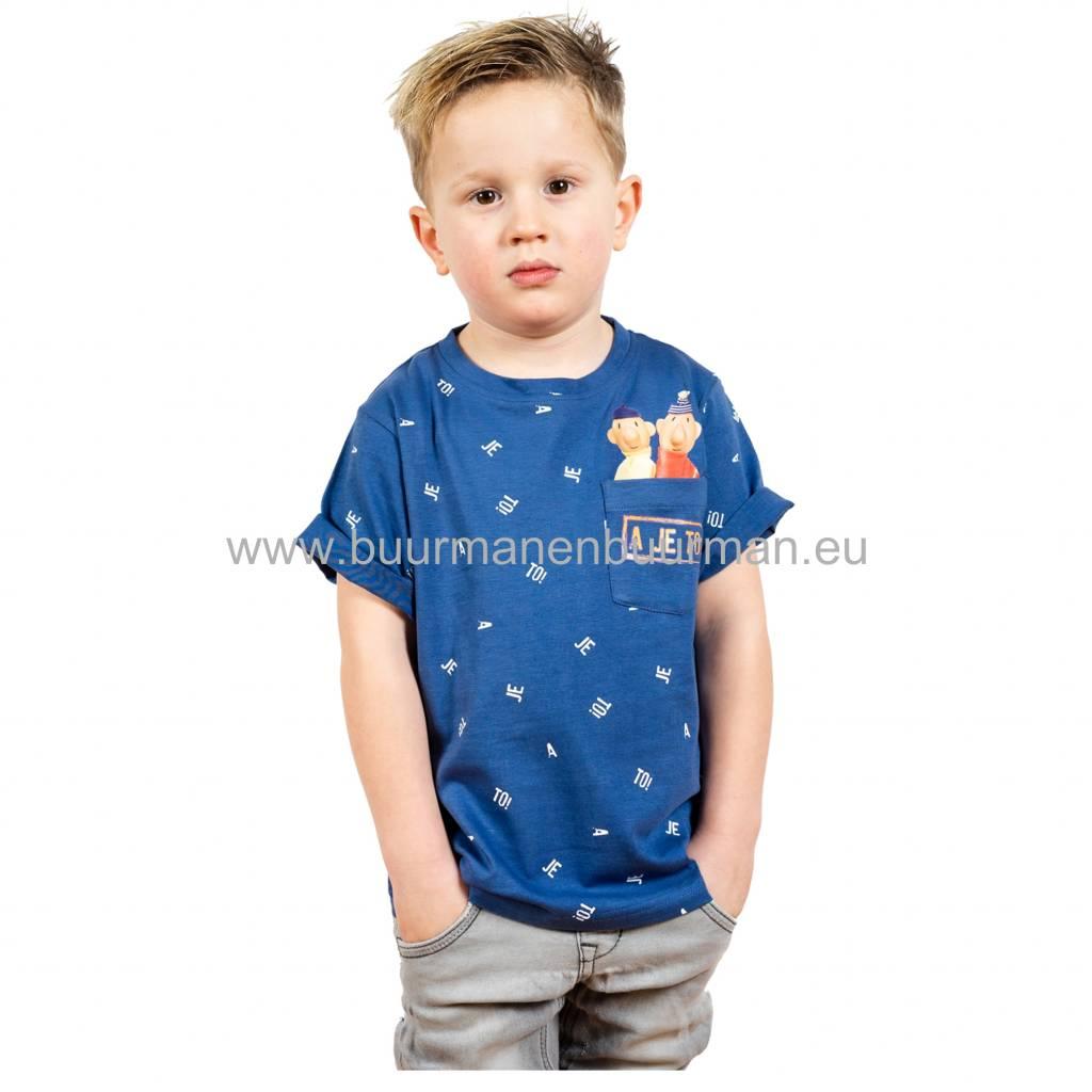Buurman & Buurman T-shirt Kids Blauw / Blue AOP