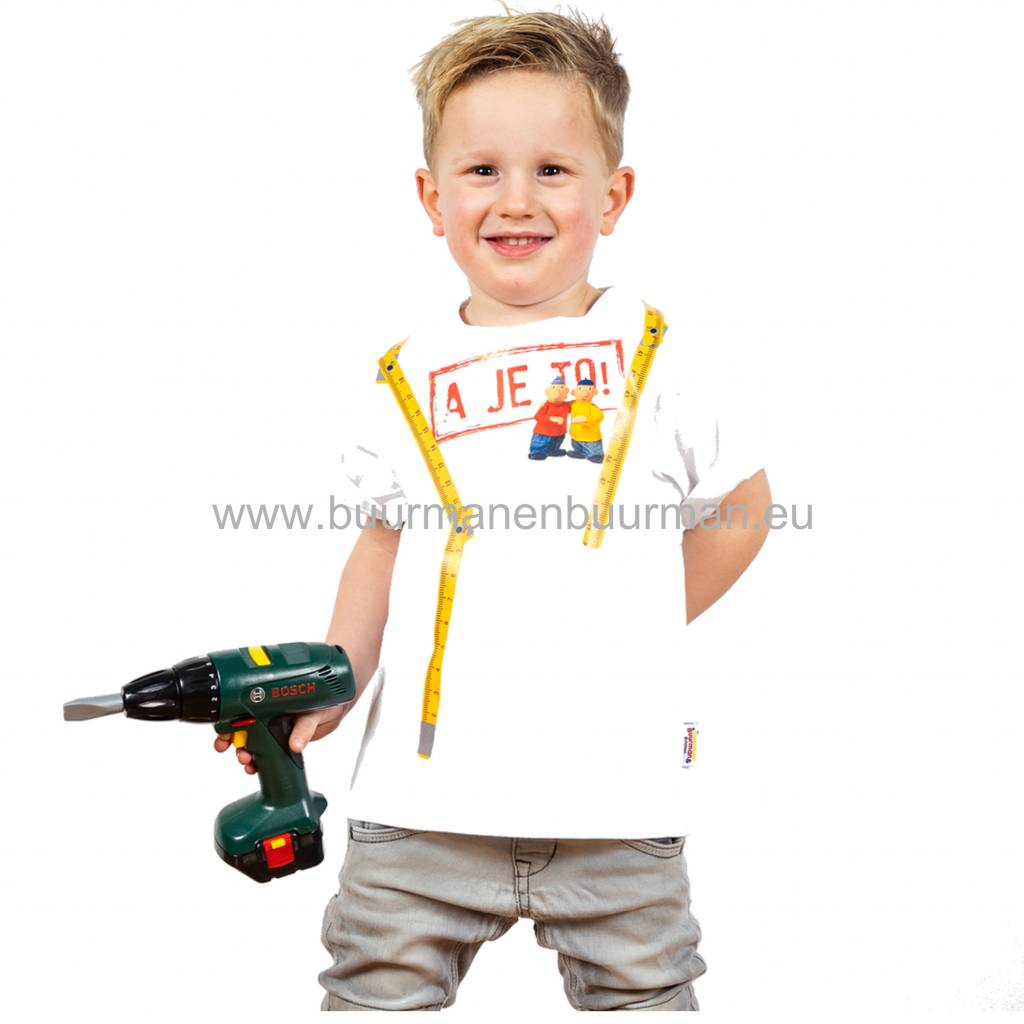 Buurman & Buurman T-shirt Kids Wit / White