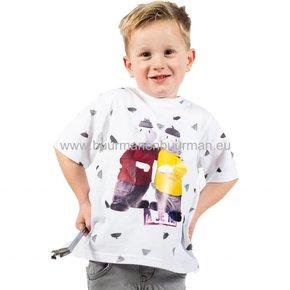 Buurman & Buurman T-shirt Kids Wit AOP