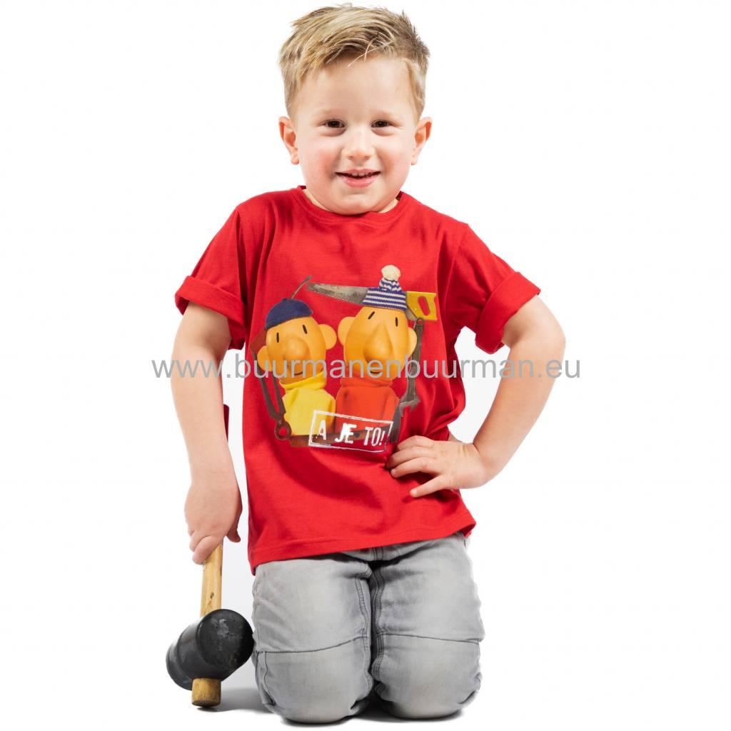 Buurman & Buurman T-shirt Kids Rood / Red