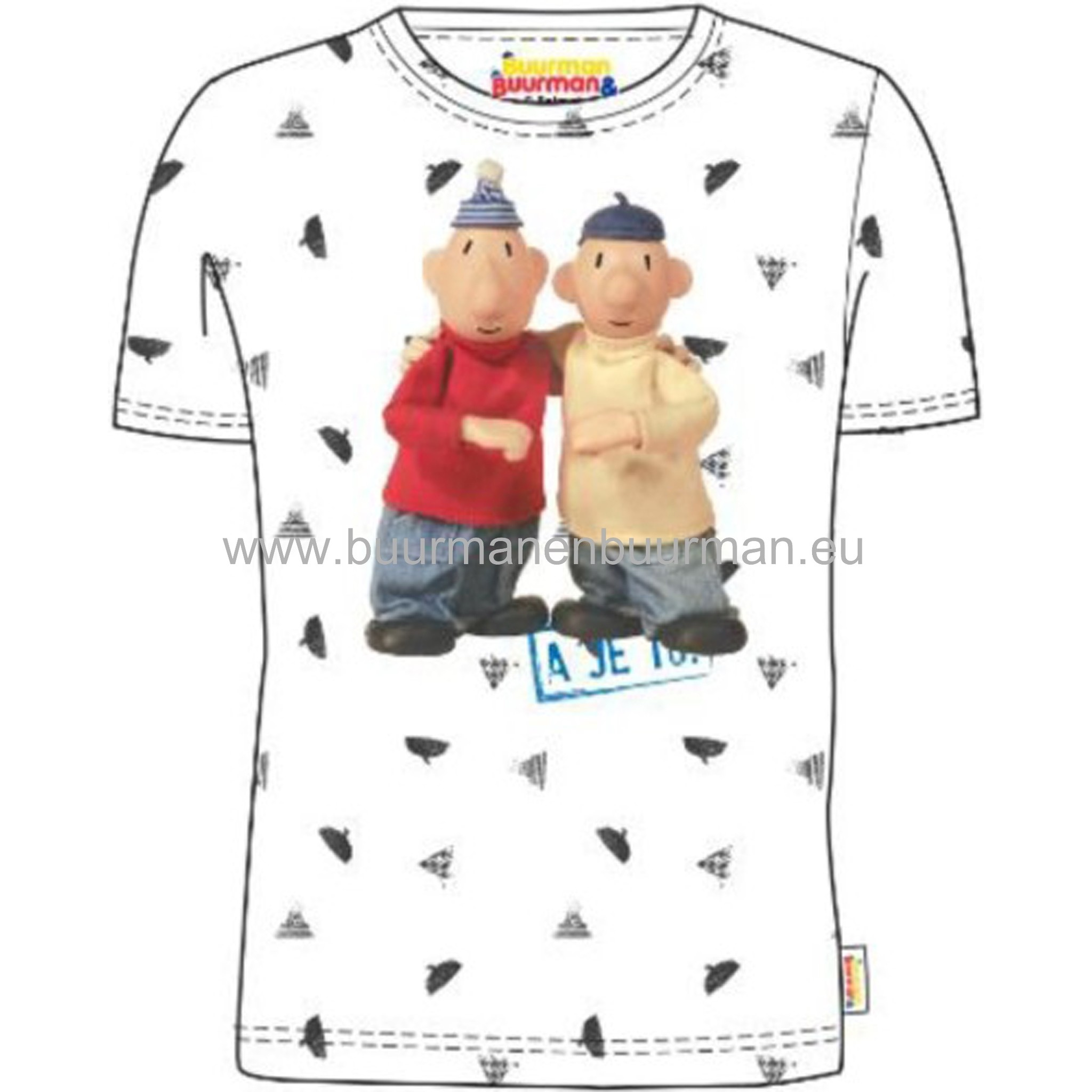 Buurman & Buurman T-shirt Kids Wit / White AOP