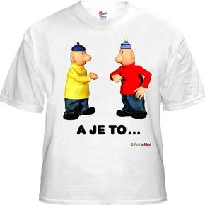 Buurman & Buurman T-shirt WIT A JE TO Kids