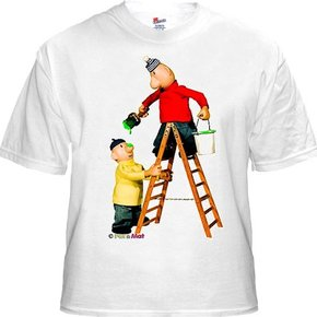 Buurman & Buurman T-shirt WIT LADDER