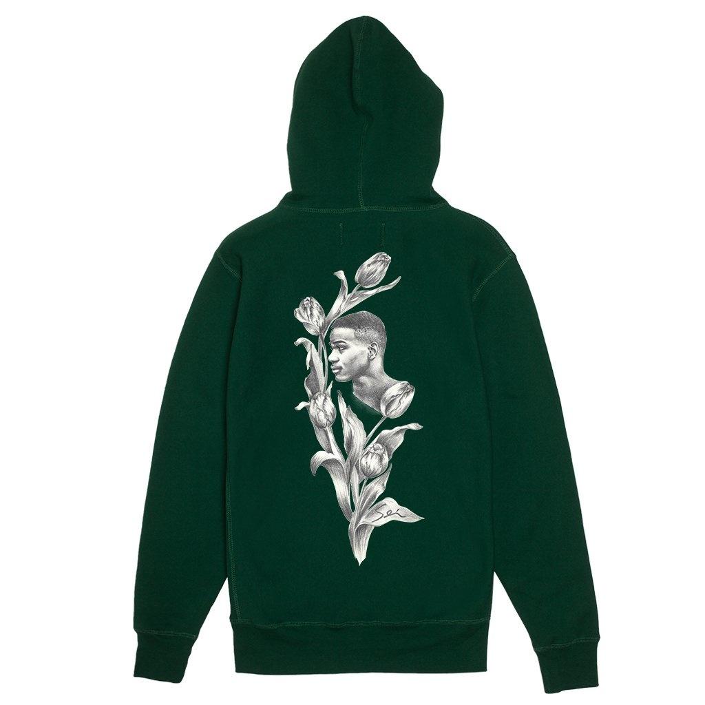 Fucking Awesome Tyshawn Jones Flower Hoodie Hunter Green