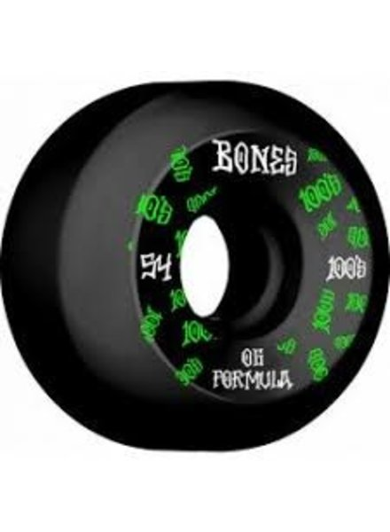 Bones 100s Sidecuts 54mm Black