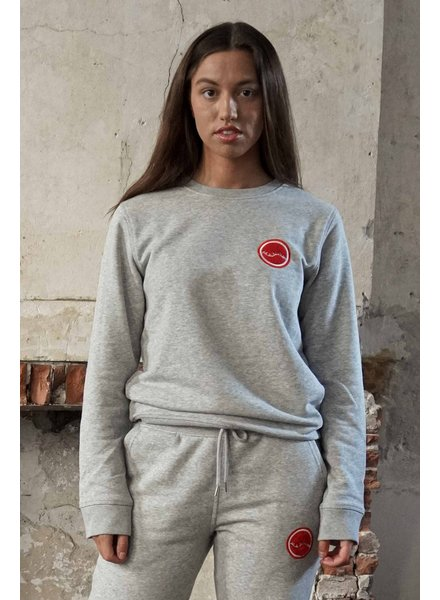 Manus Lounge Crew Heather Grey/Bullseye Red