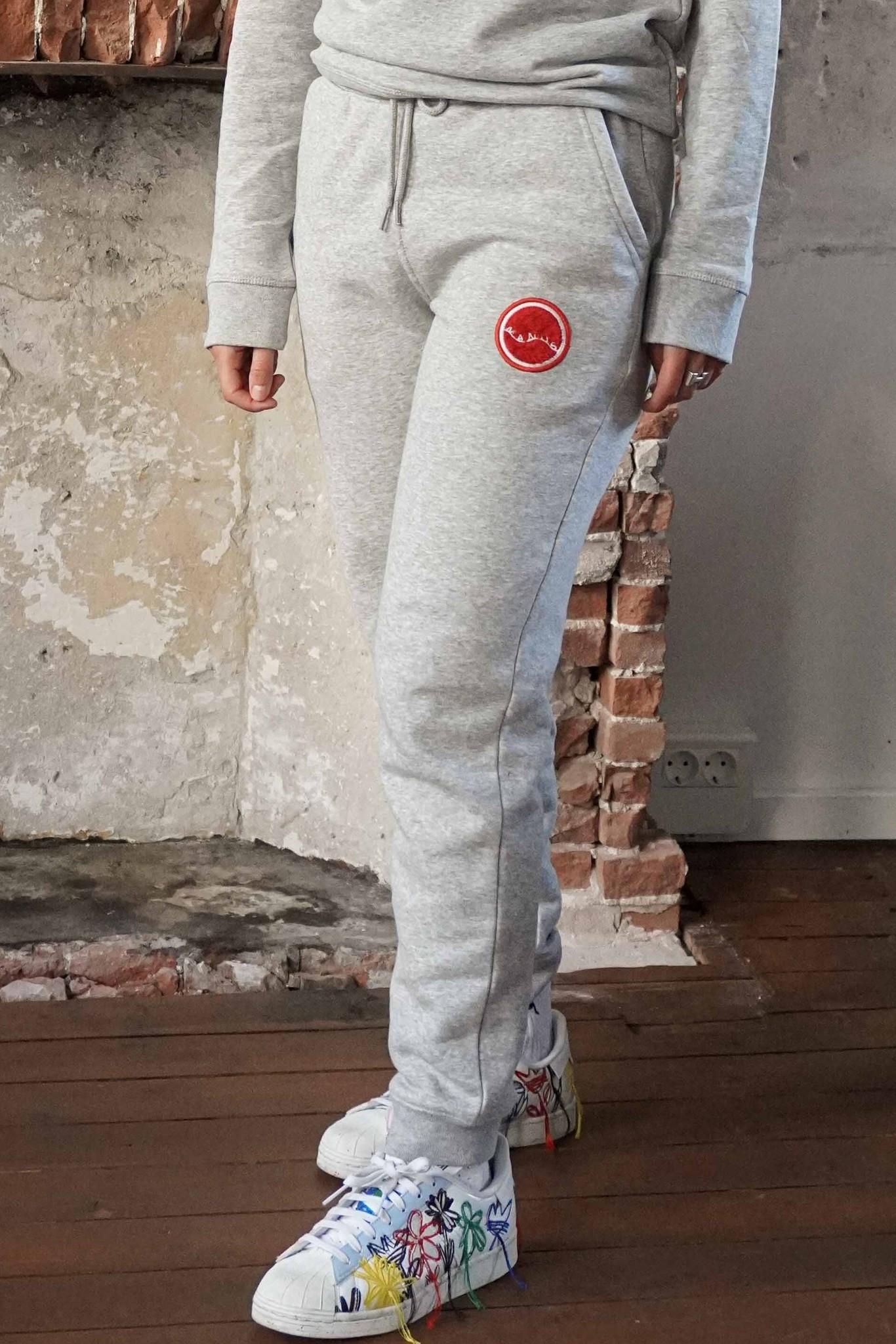 Manus Lounge Pants Heather Grey/Bullseye Red