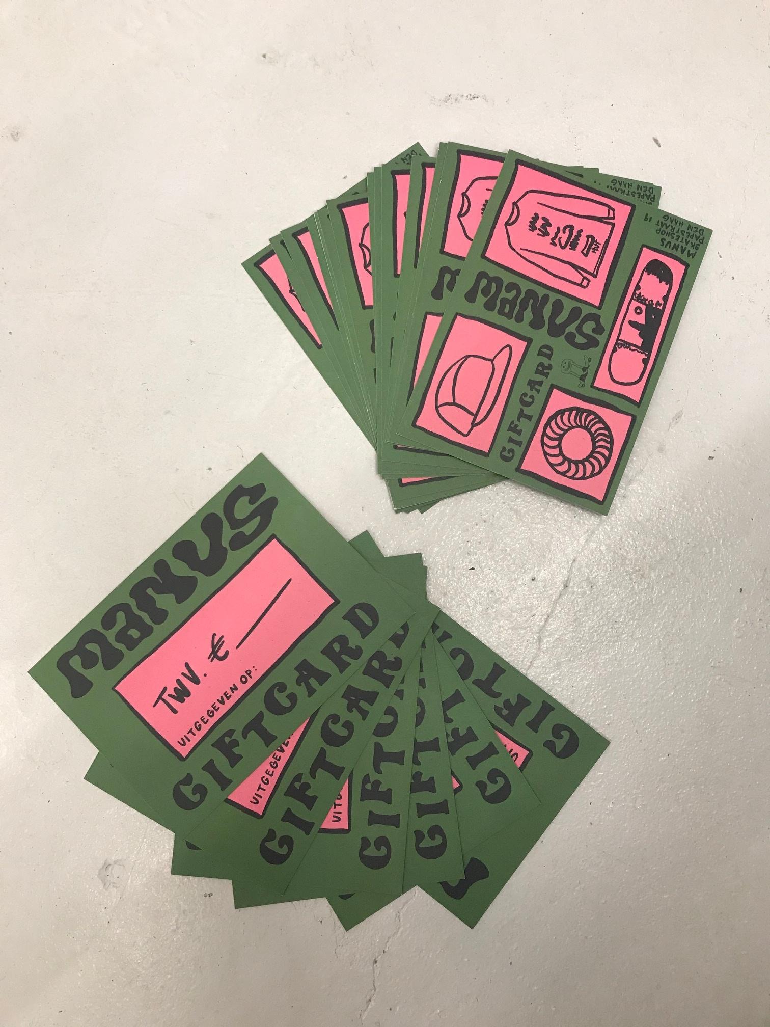 Manus Giftcard €100