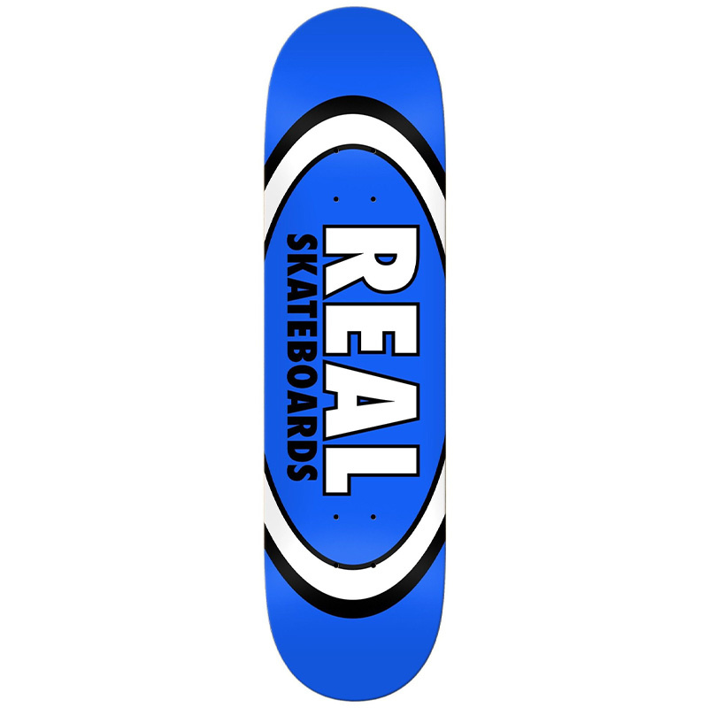 """Real Team Classic Oval Deck Blue 8.5"""""""